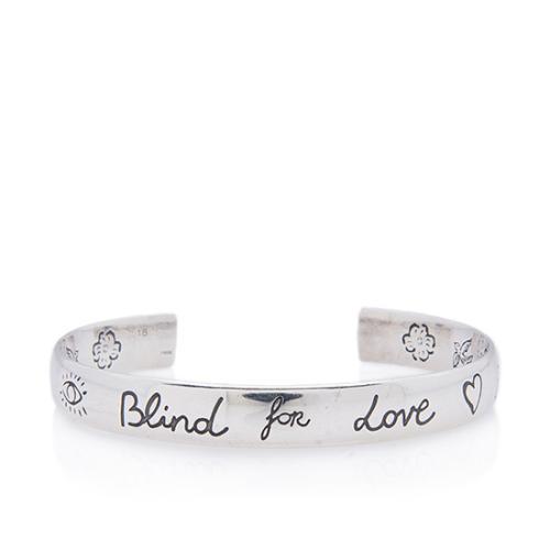 Gucci Sterling Silver Blind For Love Bracelet