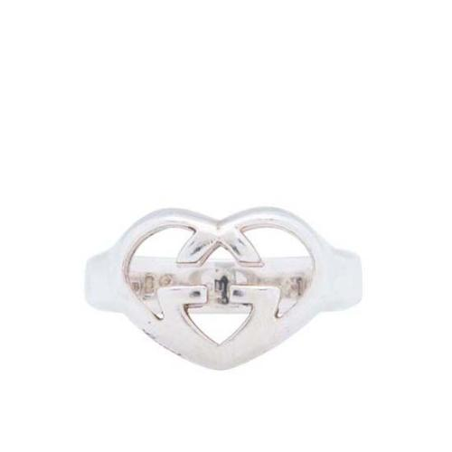 Gucci Sterling Silver GG Heart Ring - Size 6 1/2 - FINAL SALE