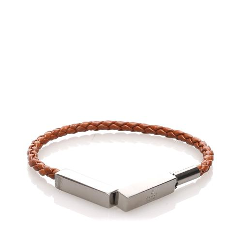 Gucci Woven Leather Bracelet
