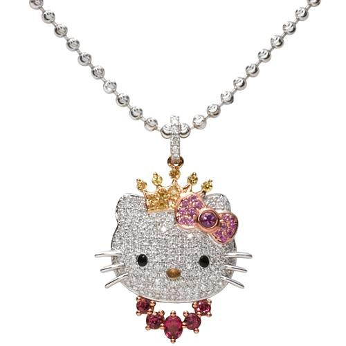 Hello Kitty Diamond Pendant Necklace