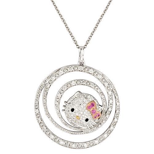 Hello Kitty Spiral Pendant