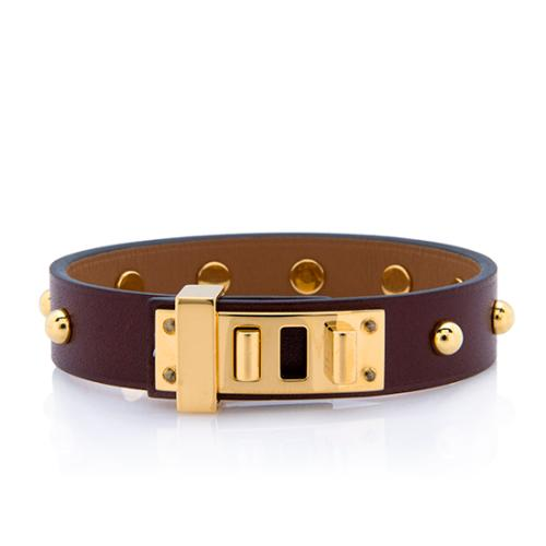 Hermès Swift Calfskin Mini Dog Clous Ronds Bracelet - Size T2