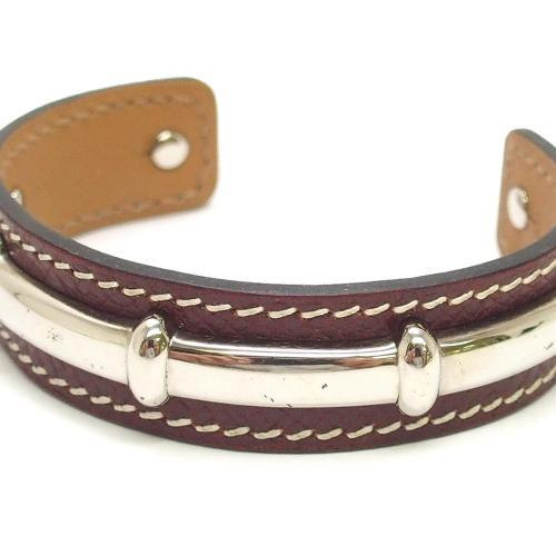 Hermes Agatha Leather Bangle