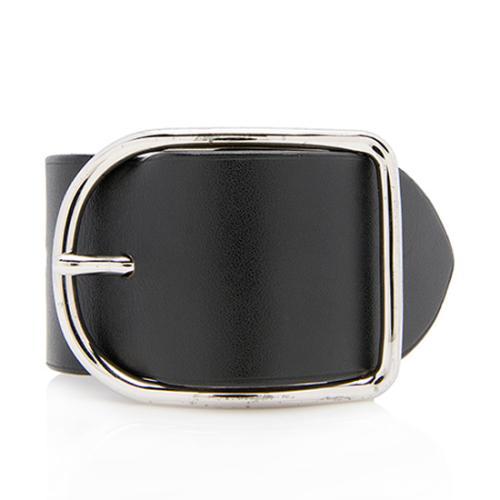 Hermes Box Leather Wide Wrap Bracelet