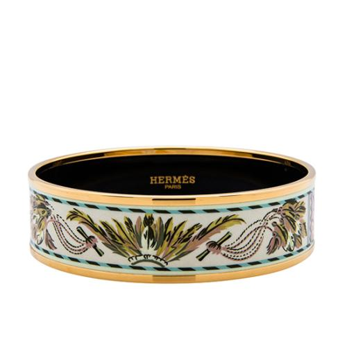 Hermes Brazil Printed Enamel Wide Bracelet - FINAL SALE