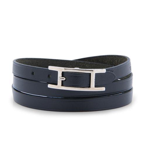 Hermes Calfskin Hapi 3 Wrap Bracelet