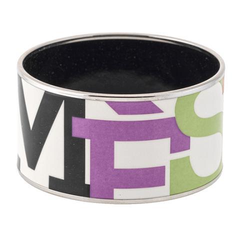 Hermes Capitales Extra Wide Enamel Bracelet