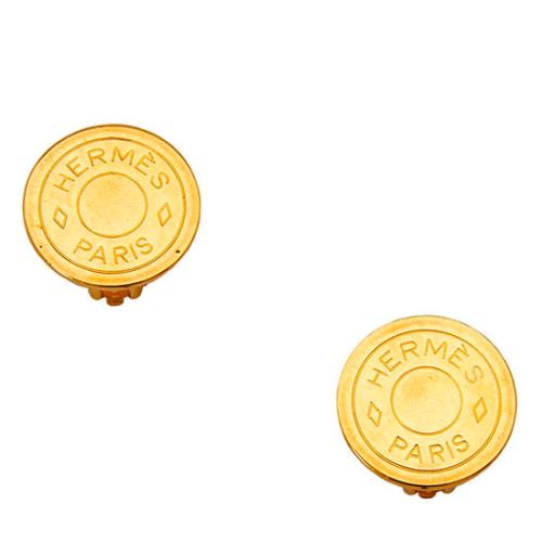 Hermes Clou De Selle Clip on Earrings