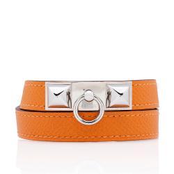 Hermes Epsom Rivale Double Tour Bracelet