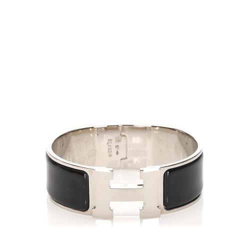 Hermes H Click Crack Bracelet Bangle