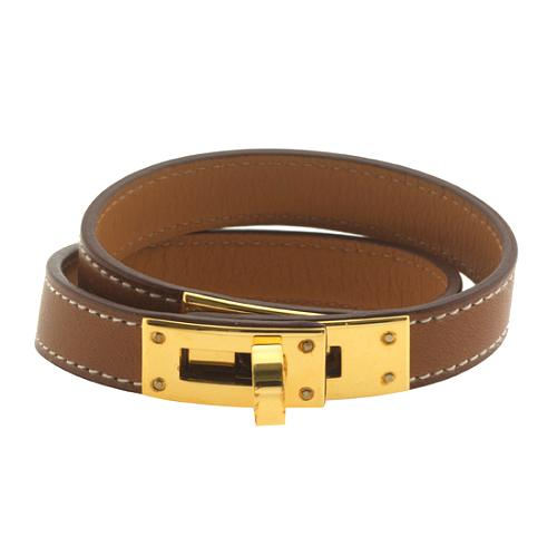 Hermes Kelly Double Tour Chamonix Leather Bracelet