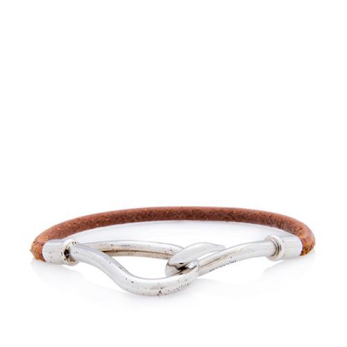 Hermes Leather Jumbo Hook Tour Bracelet