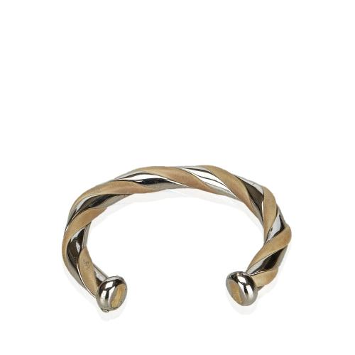 Hermes Metal and Leather Bangle