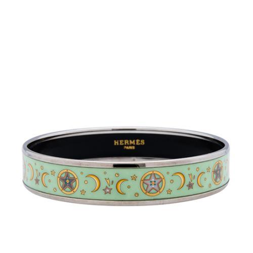 Hermes Moon Stars Enamel Narrow Bracelet