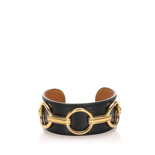 Hermes Leather Mors Cuff