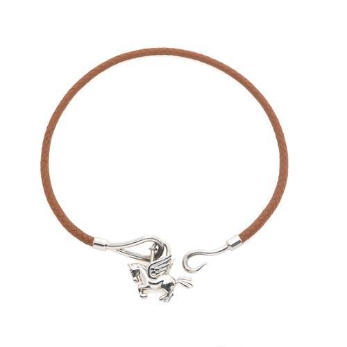 Hermes Pagasus Cadena on Jumbo Hook Leather Necklace