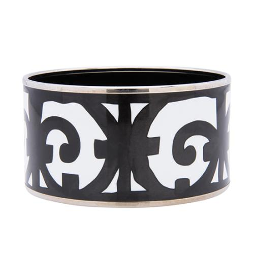 Hermes Printed Enamel Extra Wide Bracelet