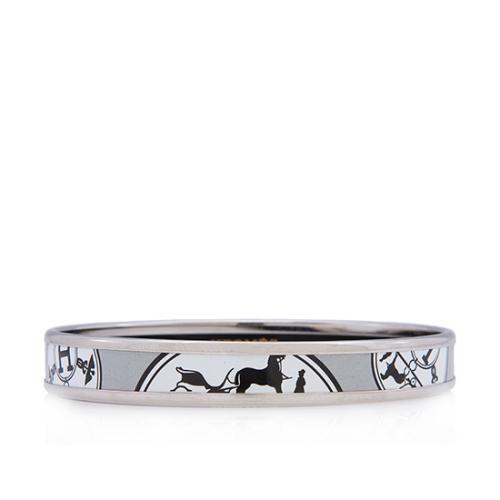 Hermes Printed Enamel Narrow Bracelet