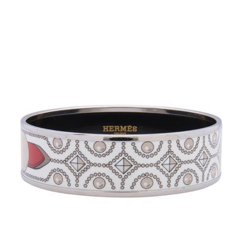 Hermes Printed Enamel Wide Bracelet