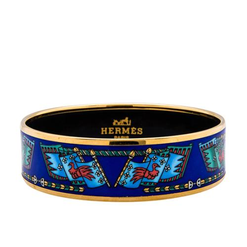 Hermes Printed Enamel Wide Bracelet - FINAL SALE