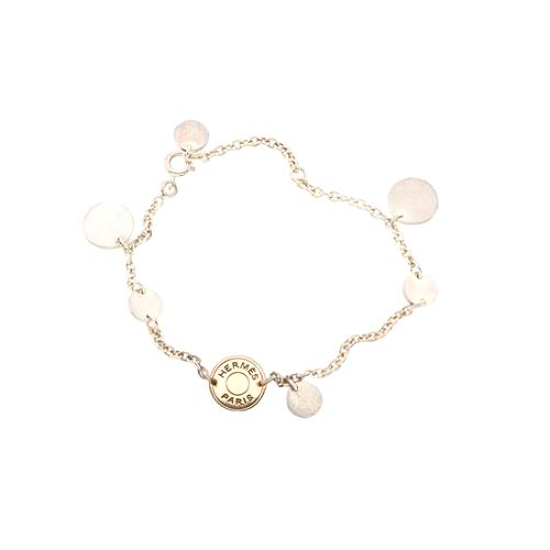 Hermes-Rose-Gold-and-Sterling-Silver-Confettis -Charm-Bracelet 52760 front large 1.jpg 4d4db4d508f