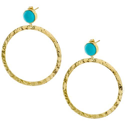 IPPOLITA Turquoise & Gold Circle Earrings