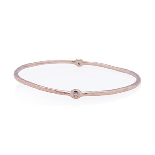 Ippolita 18kt Rose Gold Plated Sterling Silver Diamond Wicked Bangle