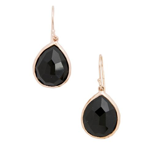 Ippolita Rose Gold Plated Sterling Silver Black Onyx Teardrop Earrings