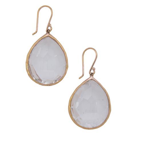 Ippolita Rose Gold Plated Sterling Silver Quartz Teardrop Wonderland Earrings