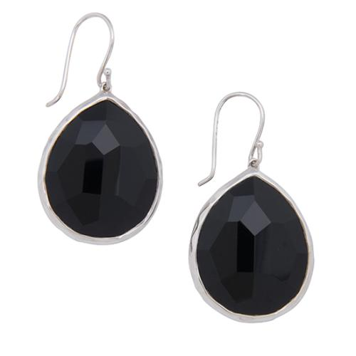 Ippolita Sterling Silver Black Onyx Teardrop Wonderland Earrings
