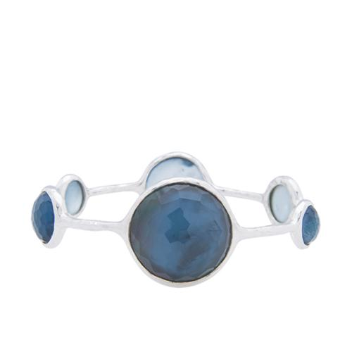 Ippolita Sterling Silver London Blue Topaz Wonderland 6-Stone Bangle