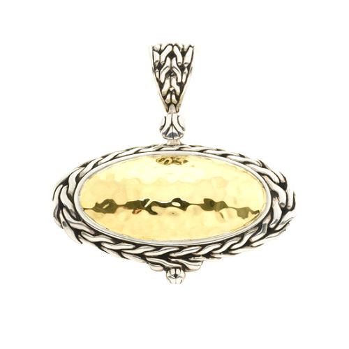 John Hardy 22K Hammered Gold Pendent