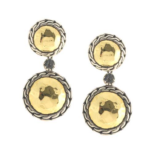 John Hardy 22k Hammered Gold Small Palu Earrings