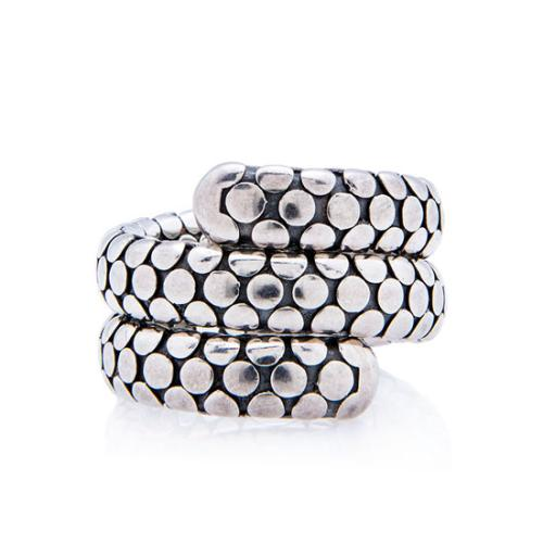 John Hardy Sterling Silver Double Coil Dot Ring - Size 8