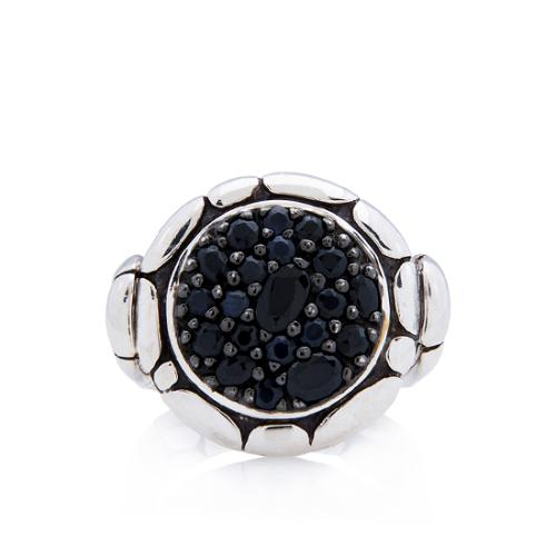 John Hardy Sterling Silver Sapphire Kali Pure Lave Fire Ring - Size 7