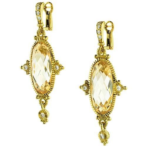 Judith Ripka Arielle Large Oval Earrings