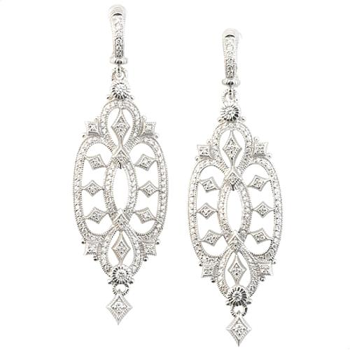 Judith Ripka Castle Diamond Earrings