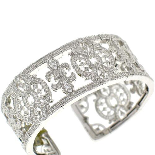 Judith Ripka Castle Diamond Spring Wire Cuff