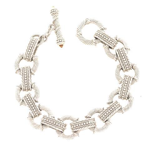 Judith Ripka Citrine Heart Charm Link Bracelet
