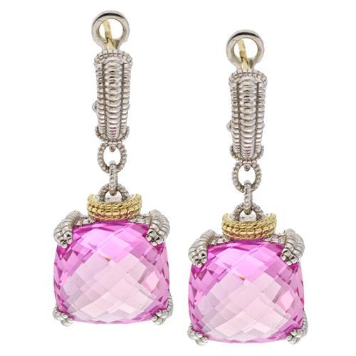 Judith Ripka Cushion Stone Earrings