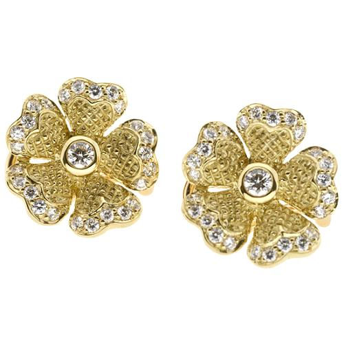 Judith Ripka Dogwood Clip Earrings