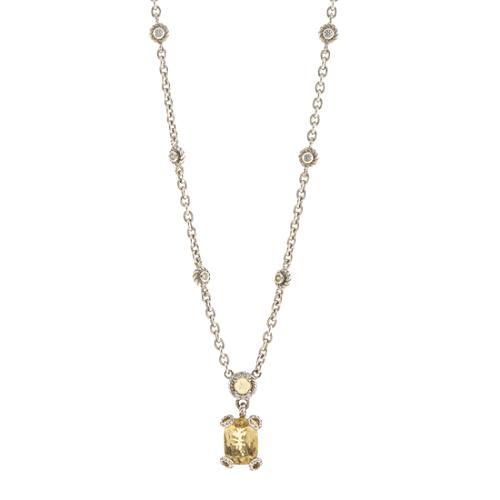 Judith Ripka Lemon Quartz Station Necklace