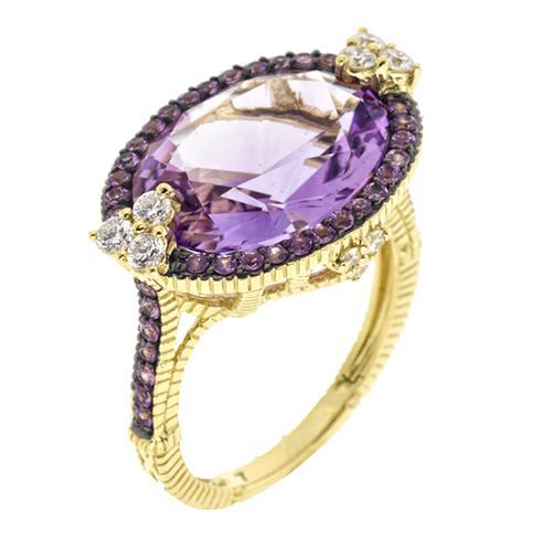 Judith Ripka Monaco Oval Stone Ring - Size 7