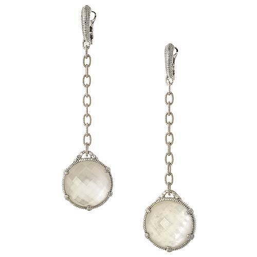 Judith Ripka Silver Eclipse Earrings