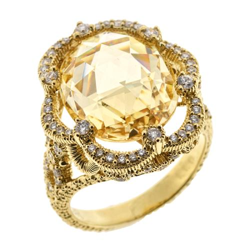 Judith Ripka Sunlace Oval Stone Ring - Size 7