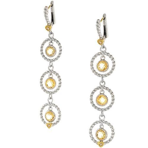 Judith Ripka Triple Circle Drop Earrings