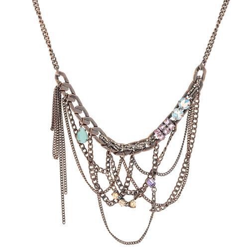 Juicy Couture Antique Rose Gold Bib Necklace