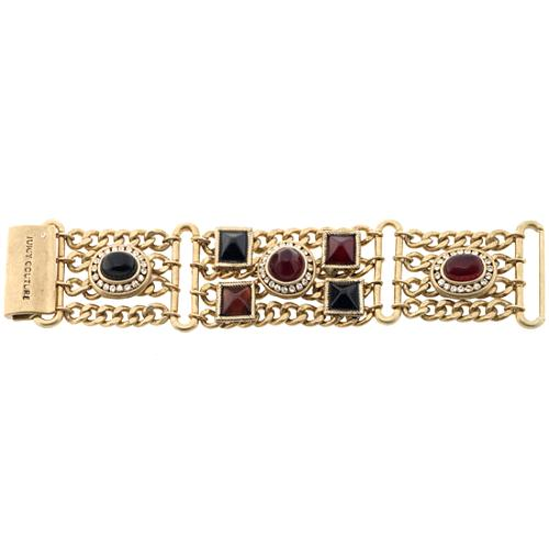 Juicy Couture Baroque Jeweled Tone Chain Bracelet