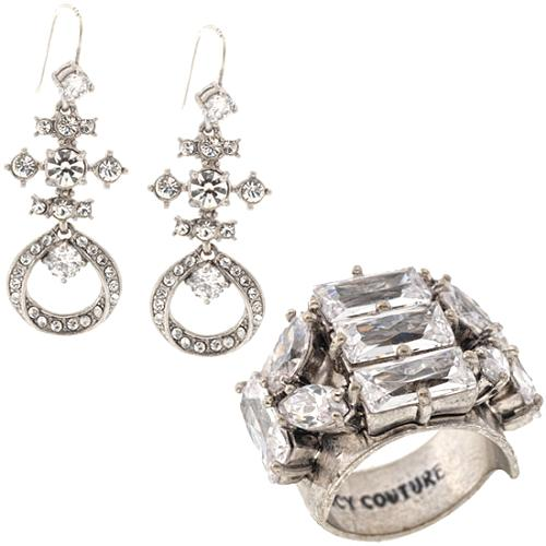 Juicy Couture Deco Glam Chandelier Earrings & Ring