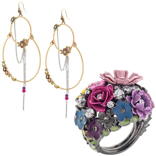 Juicy Couture Entangled Enchantment Garden Ring & Earrings